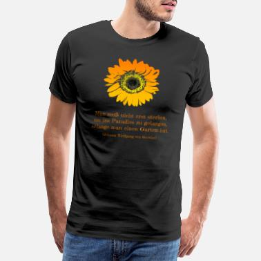 Johann Sunflower haven gartner haven ven siger - Herre premium T-shirt
