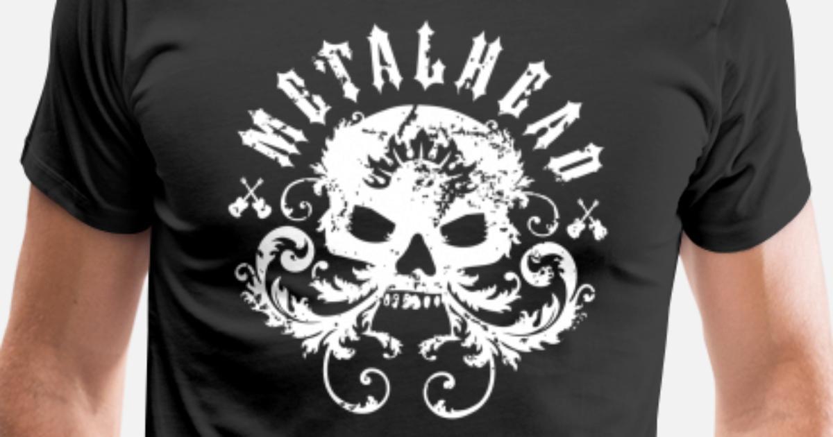 Heavy Metal T-Shirt Rock Hard Metal Design Loud Music Skulls head 3XL 4XL 5XL