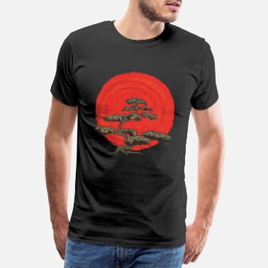 Japan Bonsai Tree Enso Circle Buddhism Zen Design - Mannen premium T-shirt