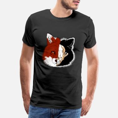 Faded Fox's head with skull fade - Men's Premium T-Shirt