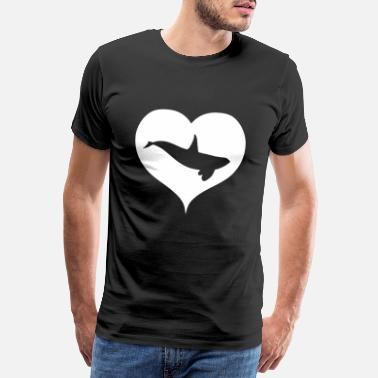 Save The Whales Orca Orcas heart - Men's Premium T-Shirt