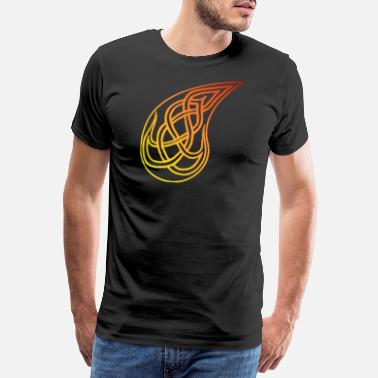 Orange flame - Men's Premium T-Shirt