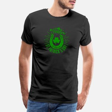 Patrick St. Patrick's Day Green Irish Irland Lucky beer - Premium T-shirt mænd