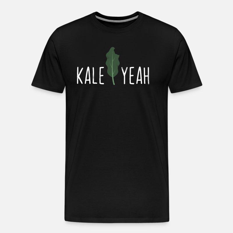 7464dfb31 Kale Yeah Funny Vegan Pun Gift Men's Premium T-Shirt | Spreadshirt