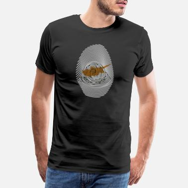 Cyprus Cyprus fingerprint DNA flag gift idea - Men's Premium T-Shirt