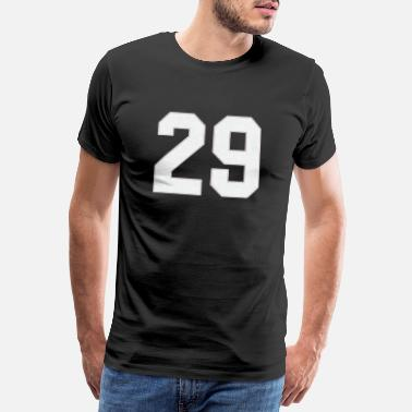 3d Look Baseball Sports jersey number / Jersey Number 29 - Men's Premium T-Shirt