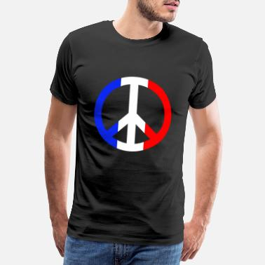 Make Love Not War Peace Sign Peace Sign France Gift - Men's Premium T-Shirt