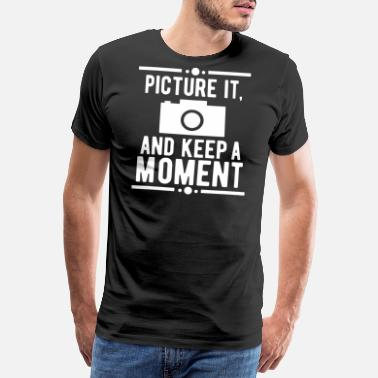 Fotomontage Picture Keep Moment Photography Fødselsdagsgave - Herre premium T-shirt