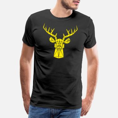Red Deer Deer monochrome yellow - Men's Premium T-Shirt
