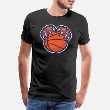 Basketbalscorer Beer poot basketbal - Mannen Premium T-shirt