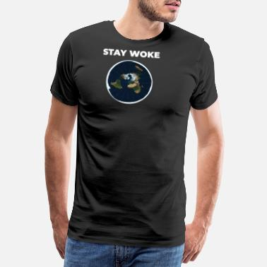Mappe Flat Earth Shirt Society Flat Earth Map Slice - Premium T-shirt mænd