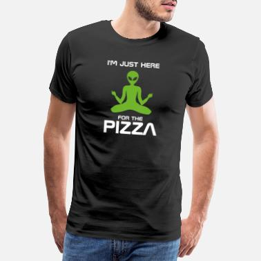 Android Here for the pizza - Alien, Weltraum - Männer Premium T-Shirt