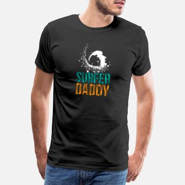 Surfer Surfer daddy - surfing, father, dad - Men's Premium T-Shirt