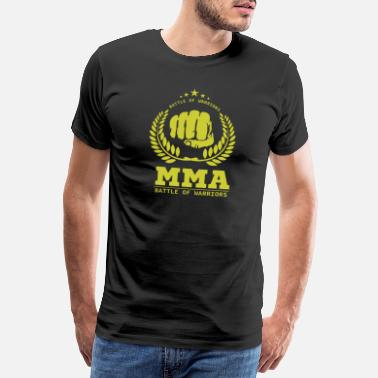 Burkämpe mma Mcgregor Khabib Training Warrior Fighter Fights - Premium T-shirt herr