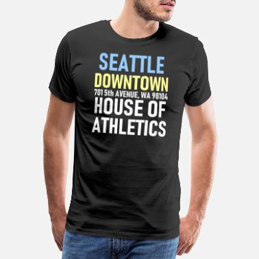 Seattle Seattle - Downtown - House of Athletics - Sports - Men's Premium T-Shirt