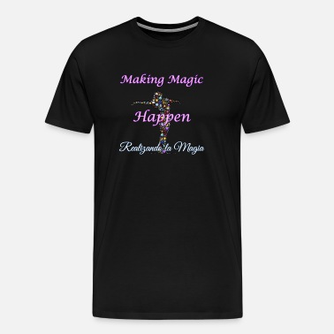 Spansk gave Espanol Latino Making Magic Herre premium T shirt sort