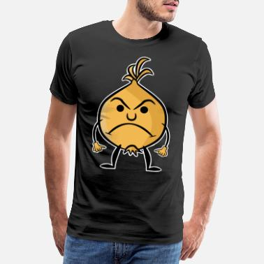 Vector Onion Sour Angry Colored Vector Emotion - Men's Premium T-Shirt