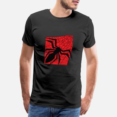 Widower Spider gift spider web phobia horror movie - Men's Premium T-Shirt