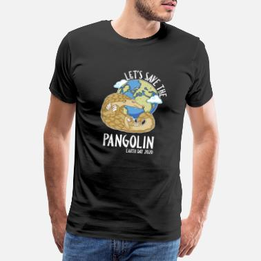Zittend Happy Earth Day 2020 Let's Save The Pangolin Speci - Mannen premium T-shirt