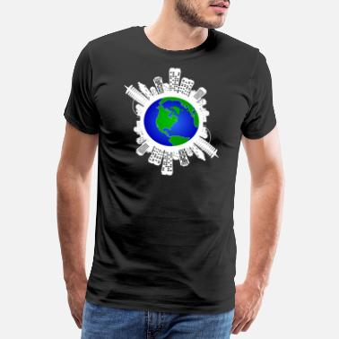 Save The Vinyl Save The World Earth Climate Change Futur Friday - Men's Premium T-Shirt