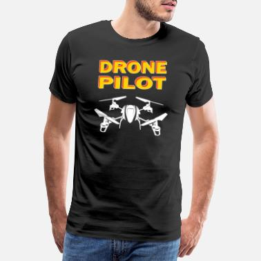 Virtual Drone drone drone quadrocopter pilot gift - Men's Premium T-Shirt