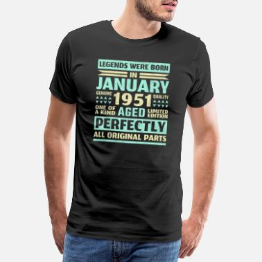 Seventies 70th birthday gift January born 1951 70th - Men's Premium T-Shirt