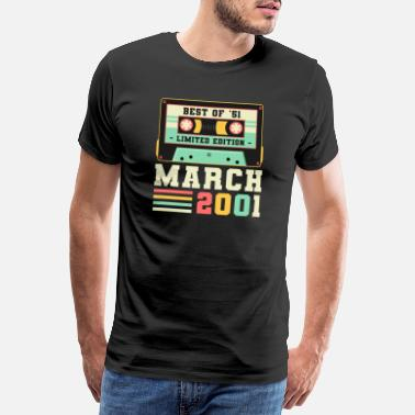 2001 20th Birthday Gift maart 2001 20 jaar - Mannen premium T-shirt