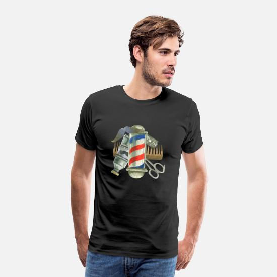Salon T-Shirts - Cool Barber Tools. Gifts for Barber, Stylist Salon - Men's Premium T-Shirt black