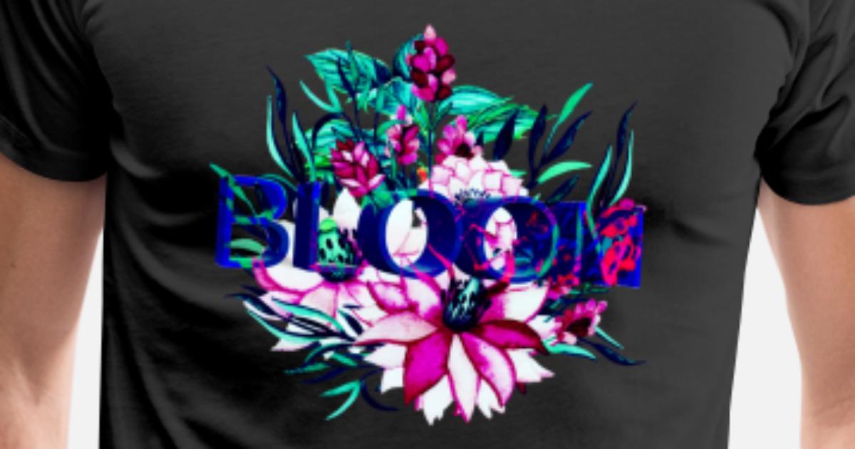 4c729528 Blomster 3D mønster kule farger neon moderne gave Premium T-skjorte for  menn | Spreadshirt