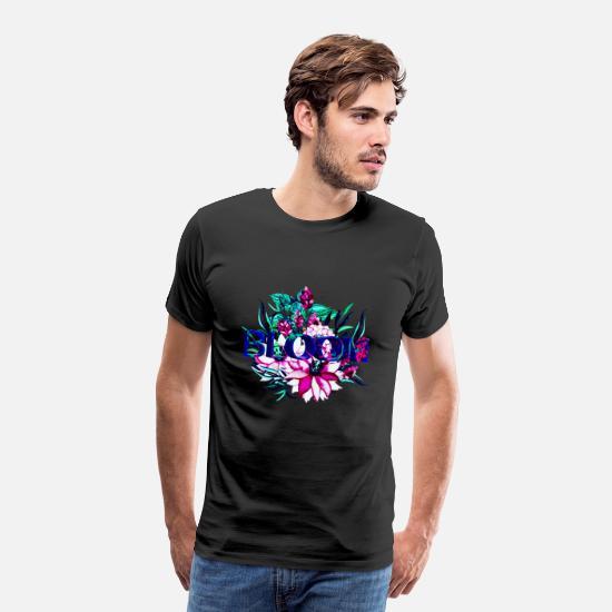 bbcae74c 3d T-skjorter - Blomster 3D mønster kule farger neon moderne gave - Premium  T