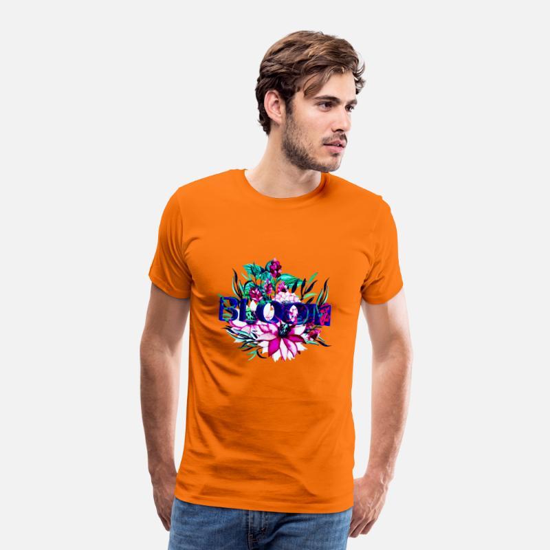4c729528 Blomster 3D mønster kule farger neon moderne gave Premium T-skjorte for  menn   Spreadshirt