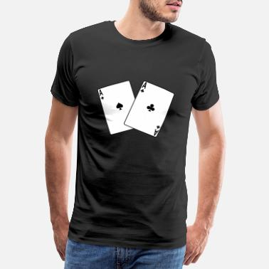 Poker kort leka spelare lek Rummy Belot bridge - Premium T-shirt herr