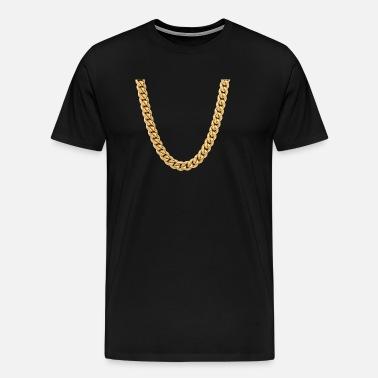 cadena rapero camisa del traje de regalo Camiseta premium hombre ... 1ac44bf76a8