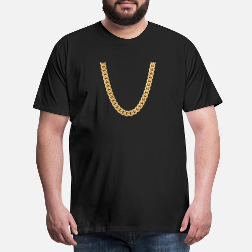cadena rapero camisa del traje de regalo - Camiseta premium hombre.  delante. delante 46f28c056d1