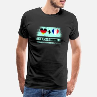 German Flag Germany and France 100% awesome / gift - Men's Premium T-Shirt