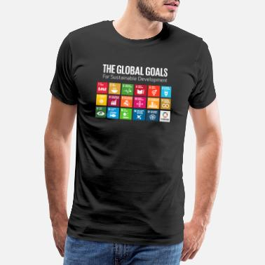 Global Global Goals 17 Global Goals Icons Grid - Premium T-shirt mænd