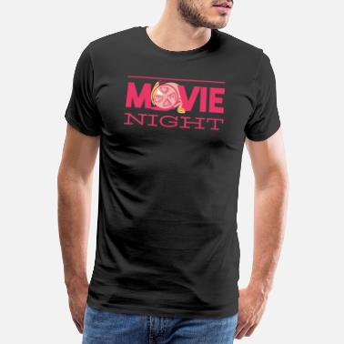 Clapperboard Movie night movie night movie night cinema symbol - Men's Premium T-Shirt