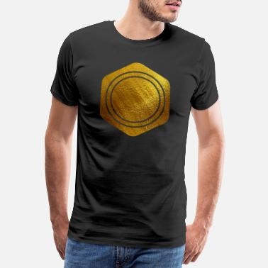 Initiales HEXAGONS SEIZE GOLD 20 - T-shirt Premium Homme