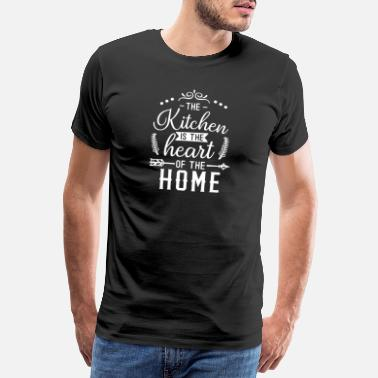 Kochtopf kitchen is the heart white - Männer Premium T-Shirt