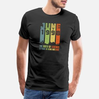 21st 1998 year of birth June birthday saying gift - Men's Premium T-Shirt