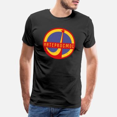 Satellite Intercosmos Sputnik space USSR gift - Men's Premium T-Shirt