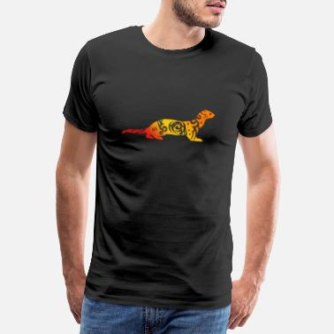 Tattoo Ferret Tribal Tattoo Ferret Lover Gift - Premium T-shirt mænd