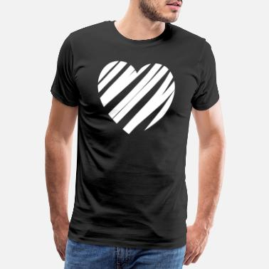 Heartache Heart painted obliquely - Men's Premium T-Shirt
