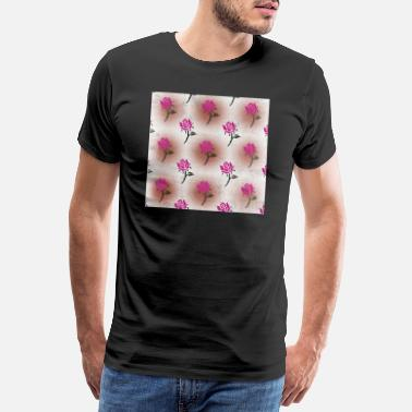 Neck Floral Neck Gator Pink Rose Distressed Pattern - Men's Premium T-Shirt