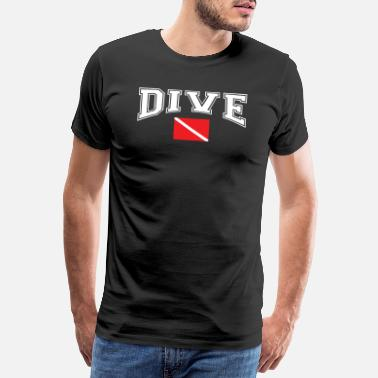Scuba SCUBA DIVE DIVING FLAG - Premium T-shirt mænd