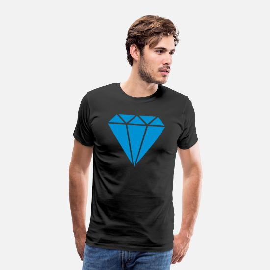 Diamond Supply  T-Shirts - Diamond Diamant chic girl - Männer Premium T-Shirt Schwarz