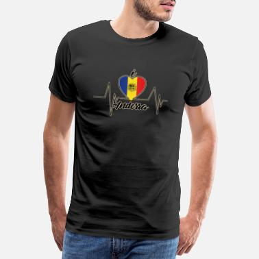 I love ANDORRA (Heartbeat) - Men's Premium T-Shirt
