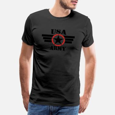 Us Army USA ARMY BLACK - Männer Premium T-Shirt