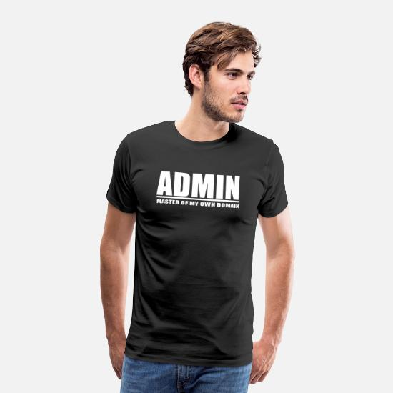 Admin T-shirts - admin rolig rolig geek citationstecken - Premium T-shirt herr svart