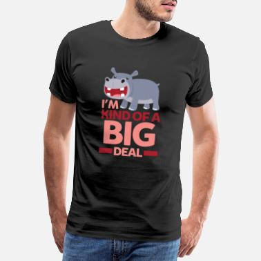 Chubby A big deal - funny hippopotamus motive - Men's Premium T-Shirt